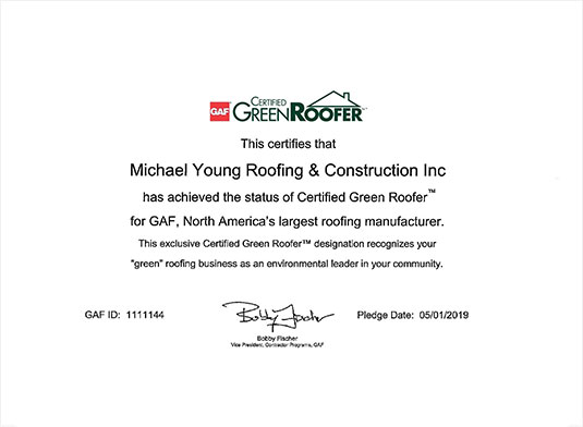 Certified Green Roofer